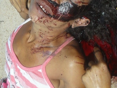 skinny Brazilian hooker get a head shoot in her way to home