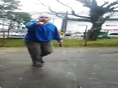 Man invad school