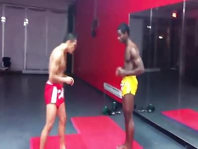 Dudes Leg Breaks Backwards After Kick