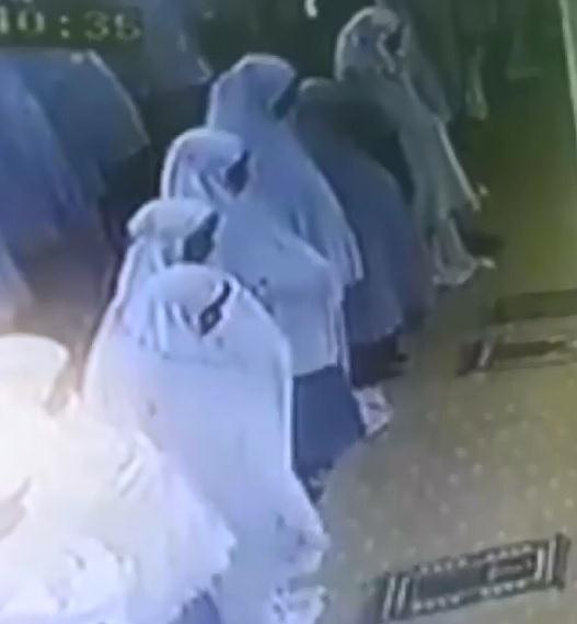 Muslim Woman Face plant during Prayer