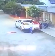 Head Blown Off with Shotgun Murder caught on CCTV (Watch Man Leaning against Truck)