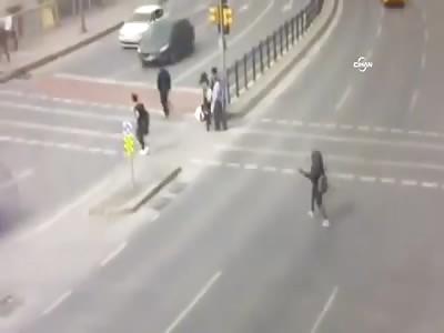 Careless Girl struck by Car