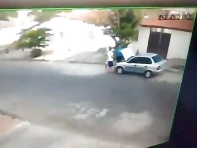 Quick Driveby Murder Caught on CCTV