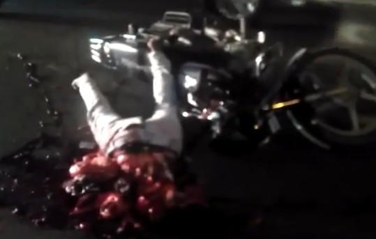 Rider Horrifically Cut in Half