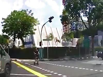 Singapore road closed encounter.