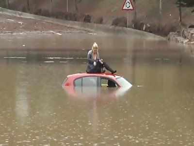 girl + car + water