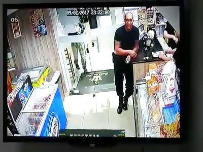 (Repost) Security man murdered CCTV