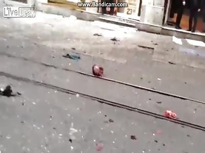 suicide bombing scene after blast