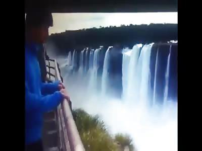 Suicide in Iguazu Falls