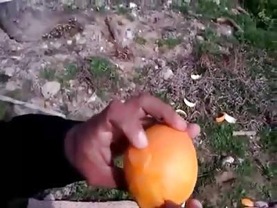 Funniest Way To Peel An Orange