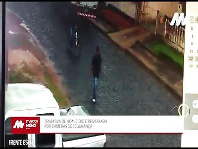 ATTEMPT MURDER: MAN IS SHOT BY MAN ON A BIKE