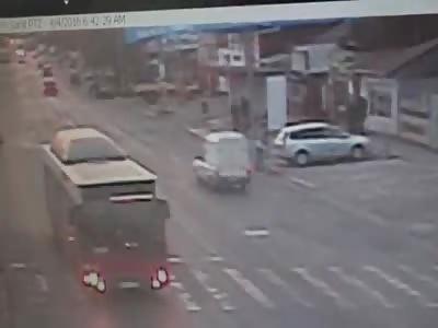 Five pedestrians died on car Accident.
