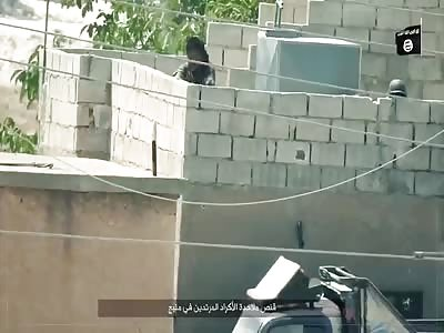 ISIS sniper headshot on kurdish fighter in Manbij.