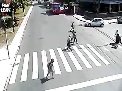 Jaywalker hit by speeding Car.