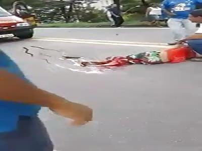 TERRIBLE MOTORBIKE ACCIDENT