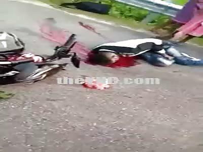 Motociclyst Dead By Truck