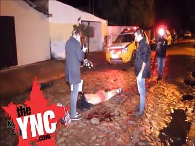 Boy was shot dead in the street