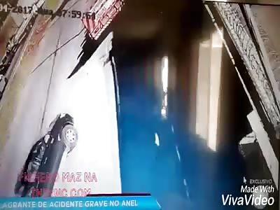 Security Camera Crashes Accident