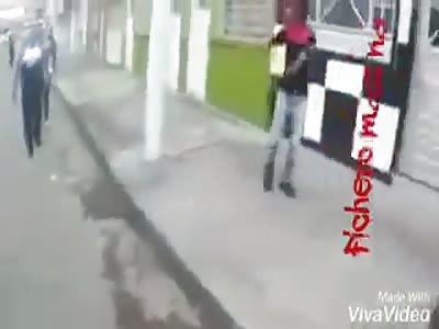 Rapist hit savagely