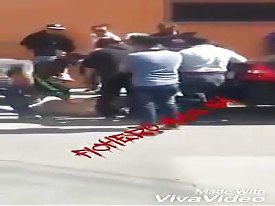 Thief struck by passersby