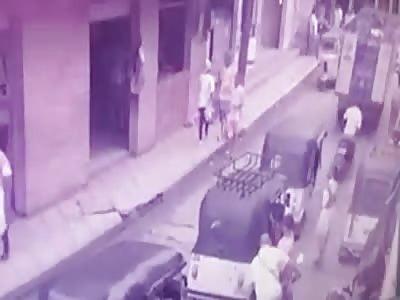 Run over woman