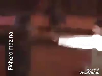 police makes demonstrator dance