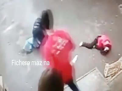 thief caught and beaten