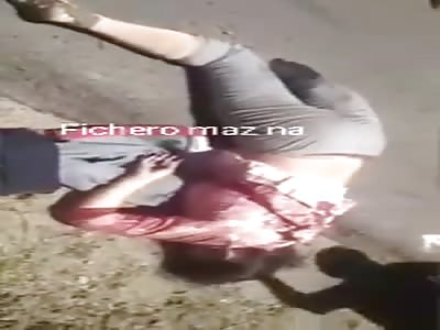 woman demonstrates her flexibility