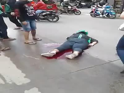 DEAD MAN IN PAVEMENT