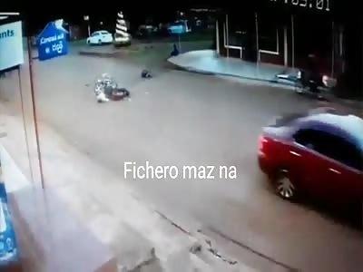 brutal flying motorcyclist