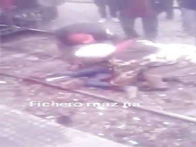 DEAD MAN IN THE TRAIN TRACKS