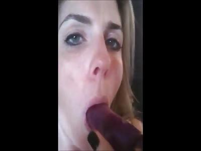 MILF Slut Assfucks Herself Then Sucks Vibe Clean