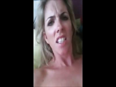 Horny Blonde MILF Secretary Strips Masturbates Cums