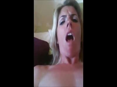 Blonde MILF Slut Fucks Herself Hard With A Nasty Spiked Dildo