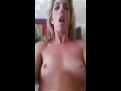 Blonde Slut Striptease and Masturbation Compilation
