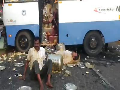 bus vs truckk acident