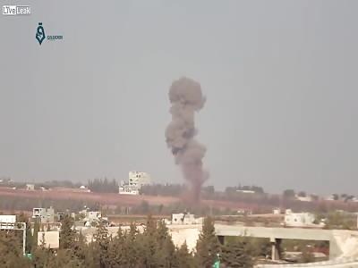 Russian air strikes hits Saraqib