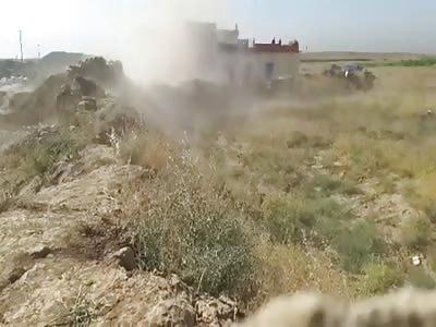 graphic content +20: Peshmerga Shoot ISIS Suicide Bomber