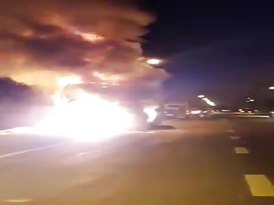 Crash truck crash