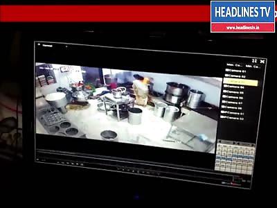 Worker Getting Electrocuted Inside Railway Canteen