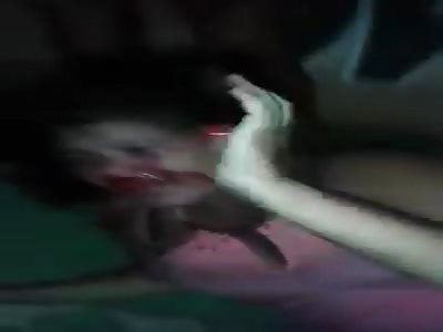 Woman IS HIT HARD