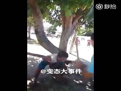 Thief got his palms beaten