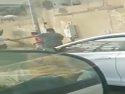 shocking footage of  man stoned in jedda