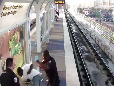 Cop violently beats homeless man