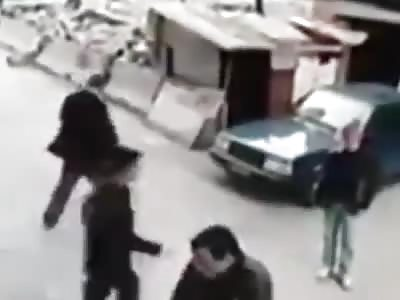 Pedestrian Knocked Flying By Speeding Dog