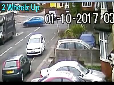 SCARY BIKE CRASH CAUGHT ON CCTV