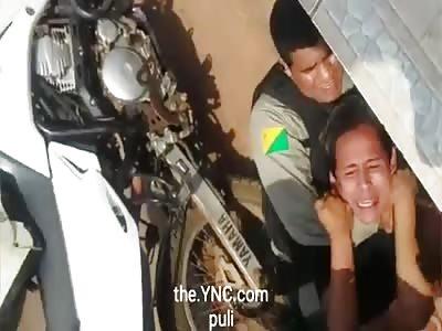 man kills police
