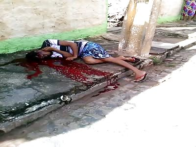 Kid Agonizes After Headshots: Murdered in barrio Vitória de Santo Antão