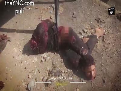 Soldiers show fallen opponents
