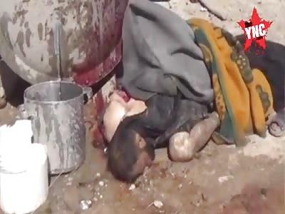 destruction of the city Idlib